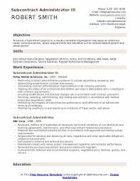 contract compliance resume subcontract administrator resume samples qwikresume