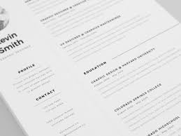 Free Clean And Minimal Resume Template Design Pinterest