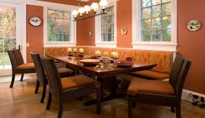 por banquette seating kitchen design ideas cozy l upholstered banquette theme with long dining table