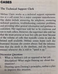 Technical Support Questions Solved Cases The Technical Support Clerk Melissa Claire W