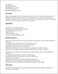 Auto Mechanic Resume Templates Auto Mechanic Resume Sample Best Professional Resumes Letters
