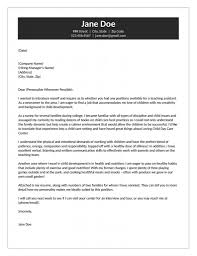 Child Care Worker Cover Letter Childcare Cover Letters