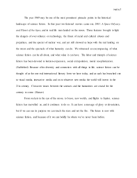 science fiction essay working draft   roberts 7