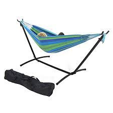 steel hammock stand. Exellent Hammock Sunnydaze 9 Ft Steel Hammock Stand With Double Brazilian Combo   Beach Oasis And A
