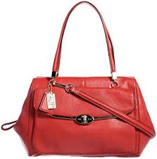 Coach Madison Madeline East West Satchel In Leather