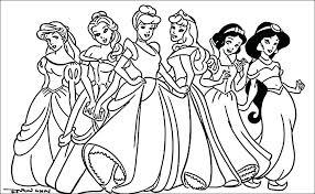 Disney Princess Coloring Pages Pdf At Getcoloringscom Free