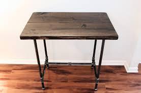 black iron furniture. Black Iron Pipe Table. Shabby Varnished Teak Wood Standing Desk Using Legs Furniture G
