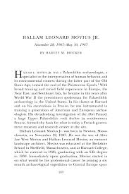 hallam leonard movius jr biographical memoirs volume the page 243