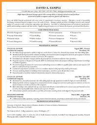 Sample Finance Resume Entry Level Sop Example