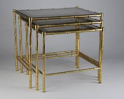 brass faux bamboo nesting tables s for sale at pamono