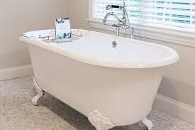 bathroom with vintage imperial clawfoot tub with white feet