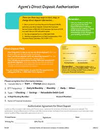 Direct Debit Form Aflac (Broker's) Direct Deposit Authorization Form | eForms – Free ...