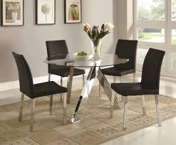Glass Kitchen Tables Round Round Glass Dining Table Decor