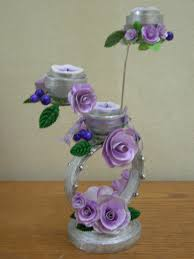 Decorative Items With Paper Best Out Of Waste Paper Decorative Candle Stand Youtube
