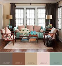 brown and pastel color combo with color swatches