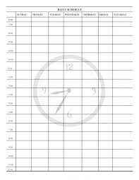 Teacher Daily Schedule Template Free Printable Schedule Template