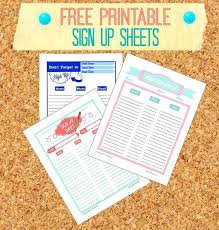 Easy Sign Up Sheet Free Printable Sign Up Sheets Employee Or Guest In And Easy Sheet