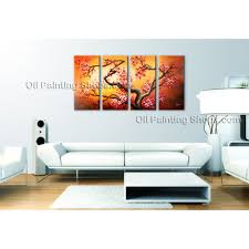 tetraptych contemporary wall art landscape tree on canvas artworks abstract landscape large painting