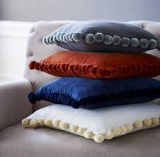 Cushion Cover | Sewing Project | Make Your Own Stylish Pompom Trim Cushion  Covers