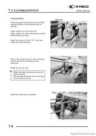 kymco yager dink 125cc 200cc scooter printed repair manual manual page 4 kymco yager dink 125 200 repair manual page 3