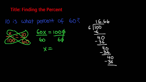 percent problems finding the percent 7th grade math
