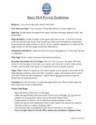 Mla Formatting Guidelines Magdalene Project Org