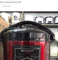 Nồi áp suất điện cơ Sharp KS-180V 6 lít 1000W (Đỏ)