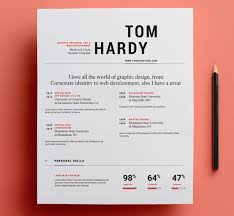 Resume Of A Graphic Designer Typography Resume Template 23 Free Creative Resume Templates With