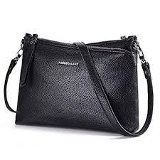 <b>Amelie Galanti Women</b> Cross-Body Shoulder <b>Bag</b> Multi Zipper <b>Purse</b>