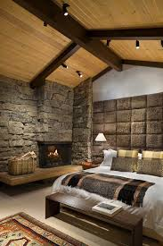 track lighting for vaulted ceilings. New York Interior Stone Walls Bedroom Rustic With Vaulted Ceilings Wicker Rattan Baskets Fireplace Hearth Track Lighting For I