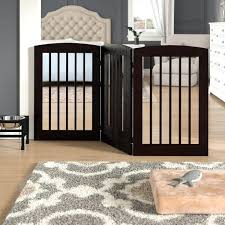 3 panel expansion dog gate with door reviews wood baby