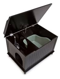 designer catbox litter box enclosure. Brilliant Enclosure The Designer Catbox Litter Box Enclosure In Black  Free Shipping On N