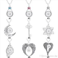 2019 noosa chunks 18mm ginger snap on pendant findings crystal key flower leaves wings charm without chain for jewelry making in bulk from commo dpp