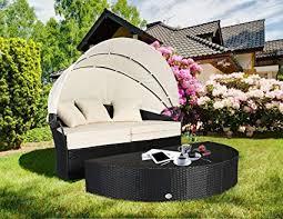 wicker patio furniture sets. Cloud Mountain 4 PC Cushioned Outdoor Wicker Patio Furniture Set Garden Lawn  Rattan Sofa Round Wicker Patio Furniture Sets
