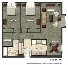 Tiny Apartment Floor Plans Home Design Ideas - Rental apartment one bedroom apartment open floor plans