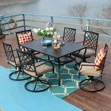 piece metal outdoor patio dining sets
