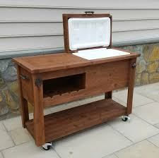 garden storage cart home outdoor decoration with rolling bar and cooler fireplace living area on