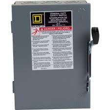 Square D 30 Amp 240 Volt 2 Pole Fused Indoor General Duty Safety Switch