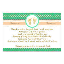 Baby Card Notes Details About 30 Thank You Card Notes Baby Shower Peach Mint Green Gold Footprints