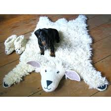 kids animal rug sheep rug felt animal rugs sew heart felt sew heart felt kids animal rug