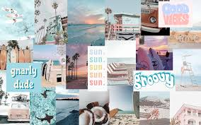 Beach Collage Laptop Wallpaper (Page 1 ...
