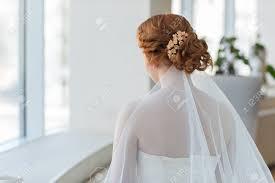 Cheveux Roux Ou Or De La Mariée Coiffures De Mariage Closeup