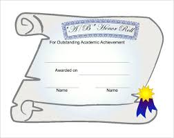 Free Honor Roll Certificate Template Microsoft Word Honor Roll