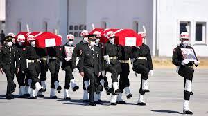 El Bab'da şehit olan askerler memleketlerine uğurlandı