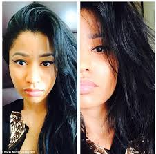raven beauty nicki also ditched her platinum blonde wig for darker locks which are cernly