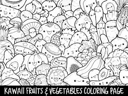 Contemporary Decoration Coloring Pages Kawaii Cute Food Free Books