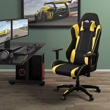 corliving black leatherette office desk chair. corliving leatherette mesh ergonomic gaming chair blackyellow chairs best buy canada corliving black office desk c