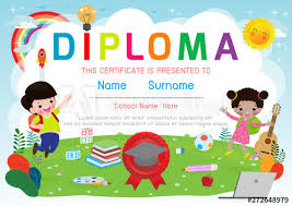Kids Certificate Border Certificates Kindergarten And Elementary Preschool Kids