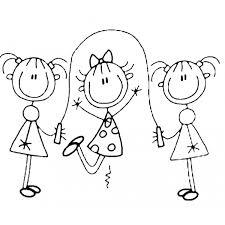 Disegno Di Gioco Della Corda Da Colorare Per Bambini