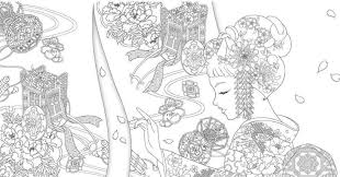 Stijlvolle Kimono Schoonheid Boek Japans Kleurplaten Etsy